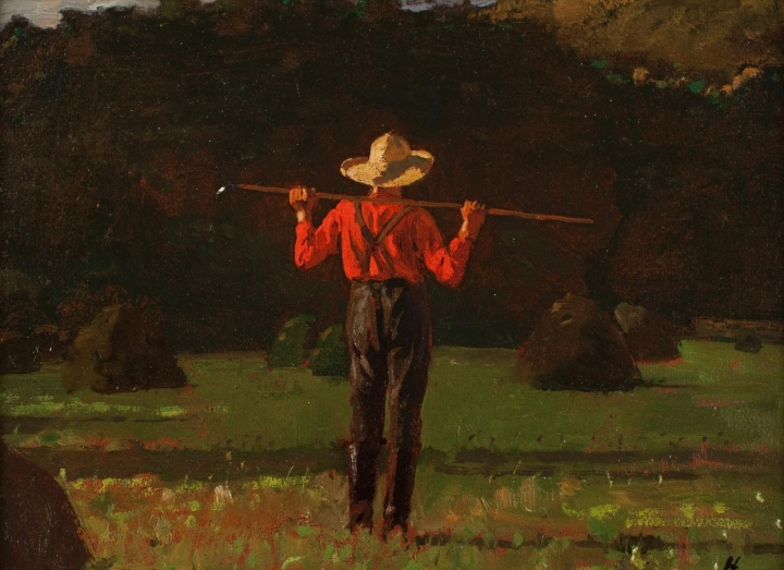 Winslow_Homer_(American,_1836–1910),_Farmer_with_a_Pitchfork._Oil_on_board